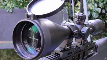 PAO 10x56 GBTR FT/HFT Reticle Rifle Scope with flip up caps,mounts, sunshade